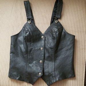 Leather vest (L)